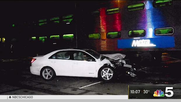 Driver Rescued Moments Before Metra Train Strikes Car