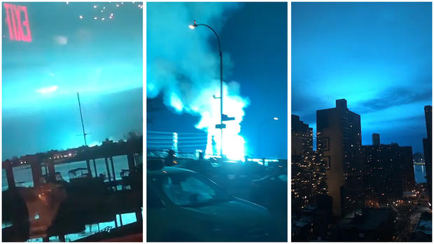 In Photos: NYC Night Sky Turns Mysterious Bright Blue