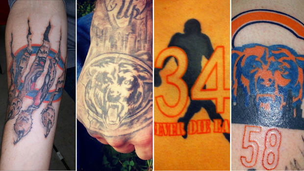 Chicago Bears Fans Ink Their Team Pride