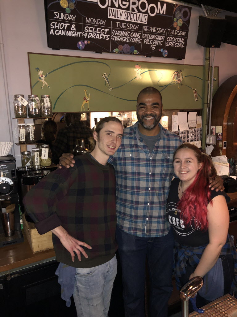 Long Room owner Jason Burrell (center) and bartenders Nick Staton (left) and AJ Beck. | Ji Suk Yi for the Sun-Times