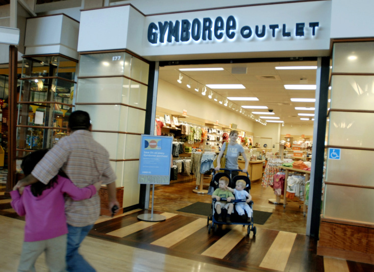 Photos of the Gymboree Outlet store at Gurnee Mills on its opening day in April 2008. The children's retailer is reportedly facing bankruptcy and the possible closure of all 900 of its locations. | Laura Weisman/Chicago Sun-Times, file