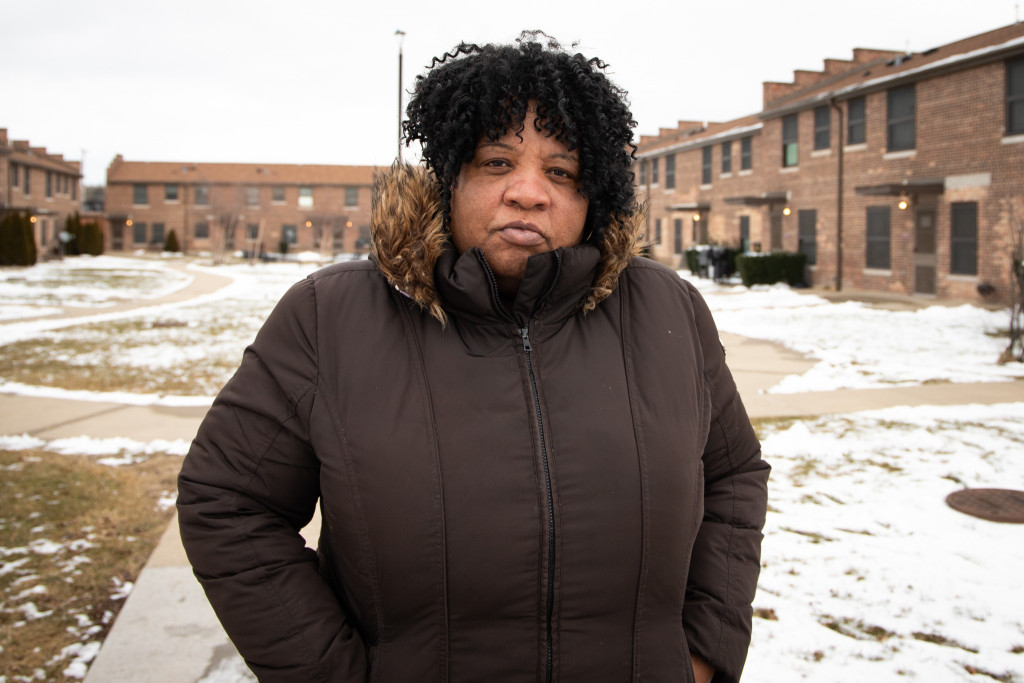 Cheryl Johnson gives Emanuel a D-minus for environmental enforcement. Her South Side neighborhood is plagued by chemical, garbage and sewage odors.