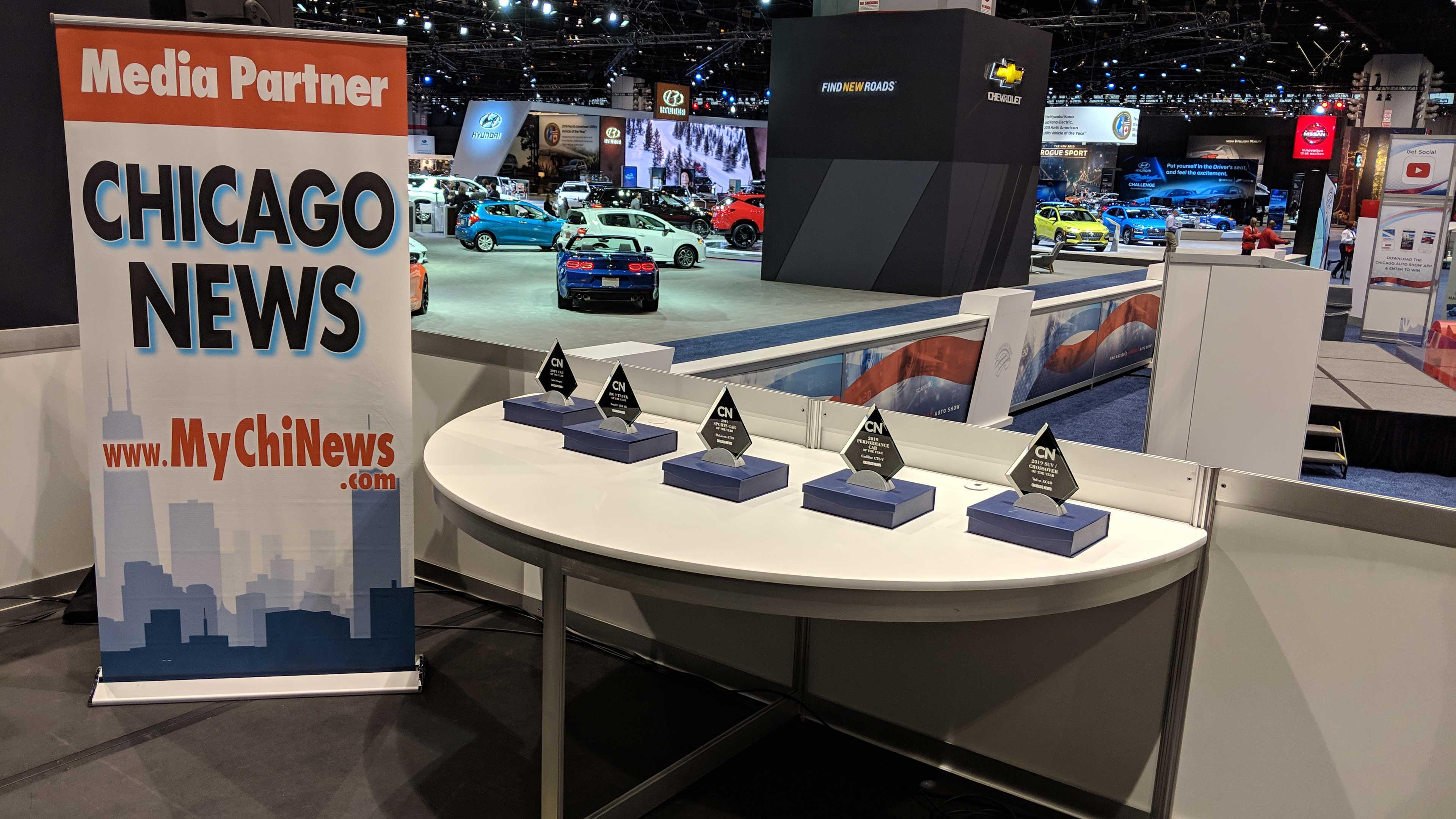 Chicago News presented awards for Cars of the Year at the 2019 Chicago Auto Show