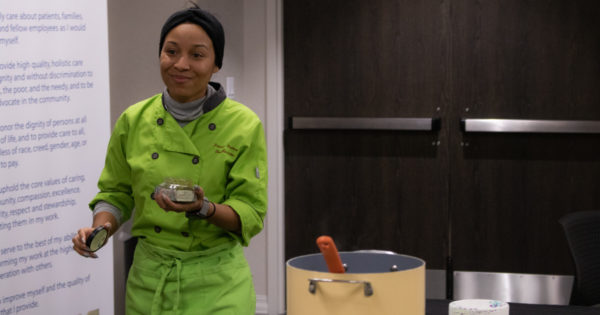 Sisters show Englewood residents how to eat healthy soul and Puerto Rican food