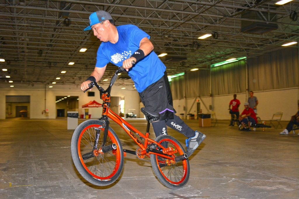 """Hiro Tsuchida created signature bike moves with names like """"Chopsticks"""" and """"Roll Around the Moon"""" that he taught to other riders."""
