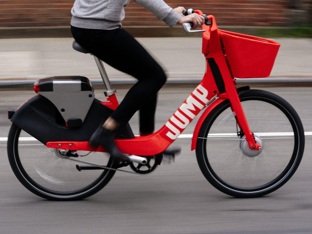 Uber's bike share service JUMP is available throughout the South Side, but some have wondered if the city changed the rules to favor it. | Courtesy of JUMP