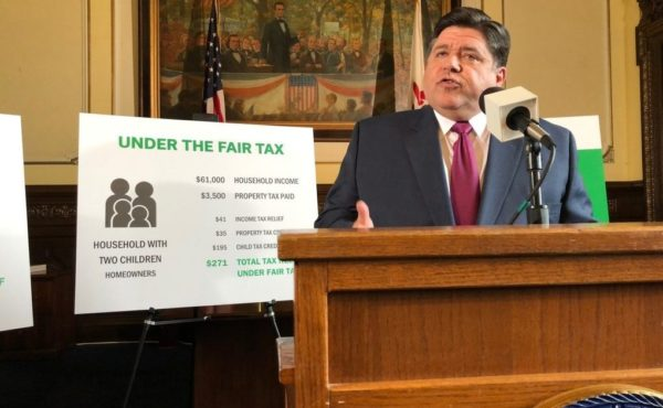 J.B. Pritzker-allied group's claim about other states and the graduated income tax is unfair