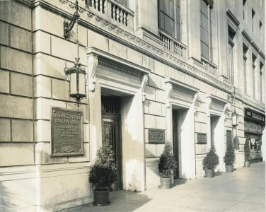 Historical photo of Washington Park National Bank Building in Woodlawn