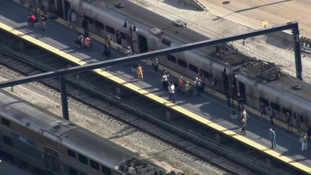SKY 5: Look At Metra Trains Halted Near Millennium Station