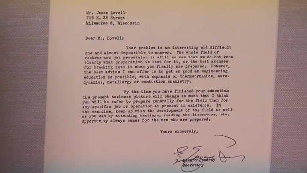 Lowell on How He Became an Astronaut