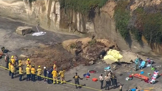 Cliff Collapse Leaves 1 Dead, 2 Injured