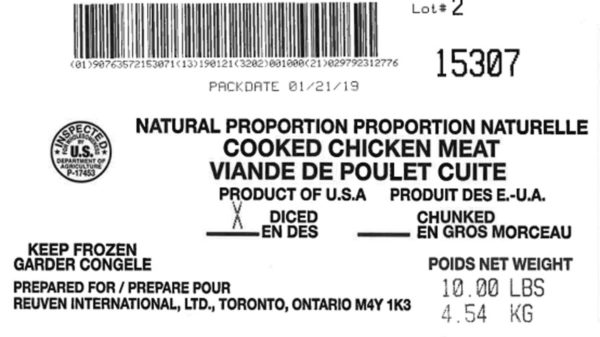 Positive Listeria Sample Prompts Tip Top Poultry Recall of Over 135K Lbs. Frozen Chicken