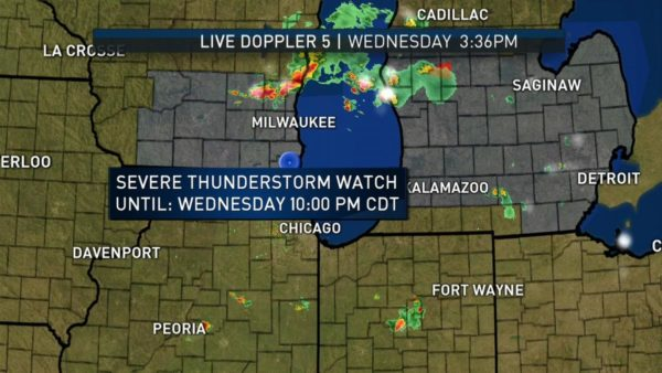 Pop-Up Storms Possible in Chicago Area as Severe Thunderstorm Watch Issued for Kenosha County