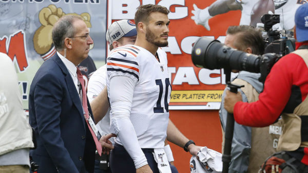 Mitchell Trubisky 'Doubtful' to Play vs. Raiders, Report Says