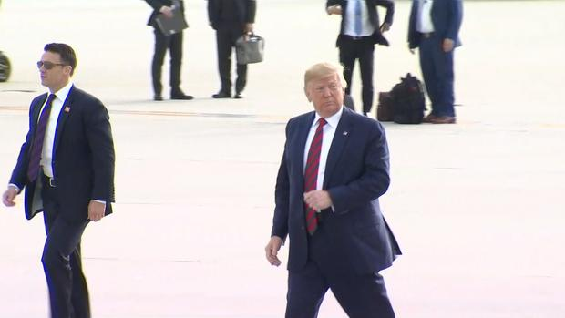 [CHI] President Trump Arrives at O'Hare Airport for Visit in Chicago