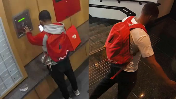 Video Shows Food Delivery Person Hungry for a Heist