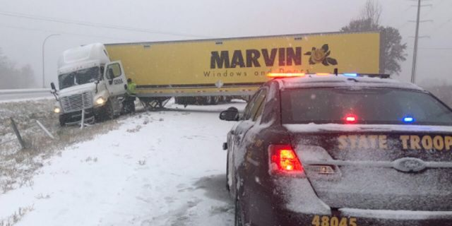 Hundreds of crashes and spinouts were reported on Tuesday due to an early-season snowstorm in Minnesota.