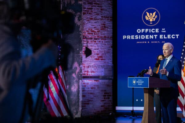 The U.S. Chamber of Commerce expressed hope that President-elect Joseph R. Biden Jr. would be able to break political gridlock in Washington.