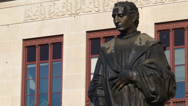 Statues vandalized over Thanksgiving in 'LANDBACK' campaign
