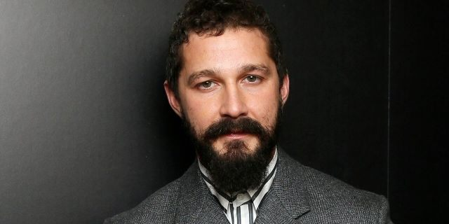 """Shia LaBeouf poses backstage with his 2019 Hollywood Breakthrough Screenwriter Award for """"Honey Boy."""" REUTERS/Danny Moloshok"""