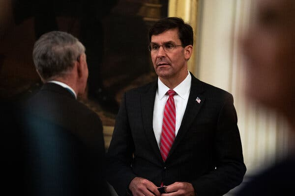 Defense Secretary Mark T. Esper's downfall had been expected for months.