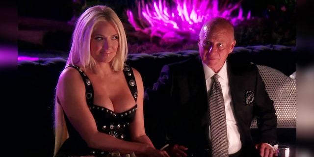 """Erika and Tom during a scene from """"Real Housewives of Beverly Hills."""" The couple is divorcing after 21 years of marriage."""