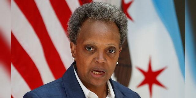 Chicago's Mayor Lori Lightfoot speaks in Chicago in an undated photo. (Reuters)