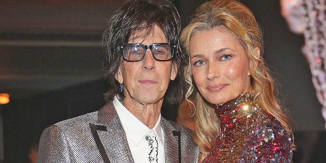 Ric Ocasek of The Cars and Paulina Porizkova were married for 28 years before they announced their separation in May 2018. In this photo, the couple attended the 33rd Annual Rock & Roll Hall of Fame Induction Ceremony at Public Auditorium on April 14, 2018 in Cleveland, Ohio. (Kevin Kane/Getty Images For The Rock and Roll Hall of Fame)