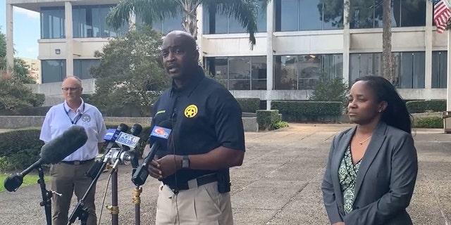 New Orleans Police Superintendent Shaun Ferguson speaks to reporters.