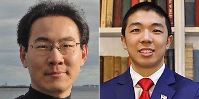 Qinxuan Pan (left) is charged with the murder of Kevin Jiang (right).