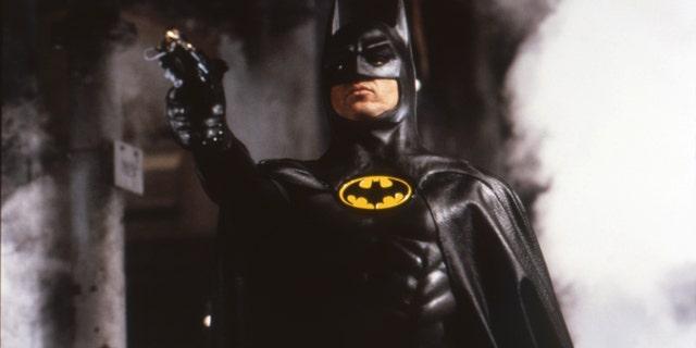Michael Keaton on the set of 'Batman.'