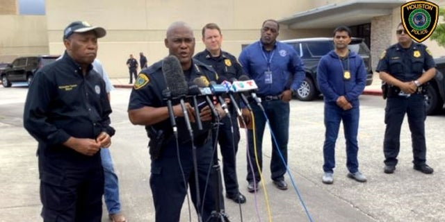Houston Police Chief Troy Finner holds a news conference following the shooting of one of his officers Monday morning.