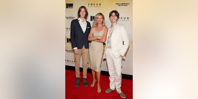 Paulina Porizkova attended the movie premiere with her sons Oliver Orion Ocasek and Jonathan Raven Ocasek.