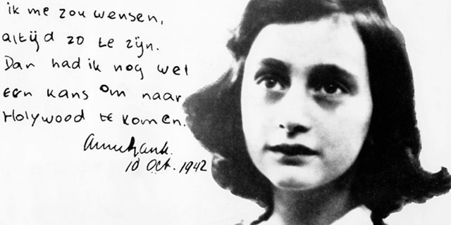 Anne Frank, German Jew who emigrated with her family to the Netherlands during the Nazi period. Separated from the rest of her family, she and her sister died of typhoid fever in the concentration camp Bergen-Belsen - Portrait with hadwritten comment, dated (Photo by ullstein bild/ullstein bild via Getty Images)