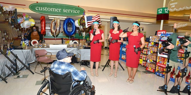 Benny Ficeto was thrown a surprise party for his 100th birthday by former employer Stop & Shop.