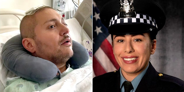 Chicago police Officer Carlos Yanez Jr. was critically wounded in the shooting during an Aug. 7 traffic stop that killed his partner, Officer Ella French.