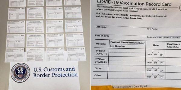 Pittsburgh CBP officers seize fake COVID vaccine cards shipped from China