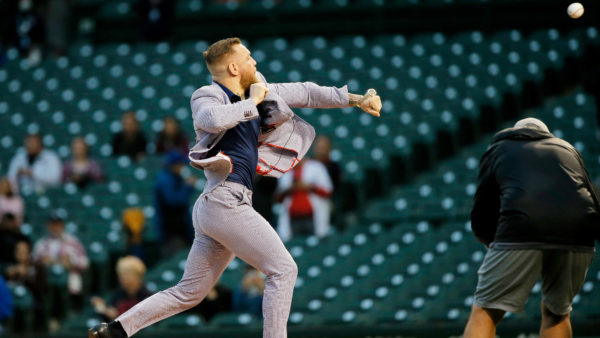 Conor McGregor slams 50 Cent comparisons after wild first pitch