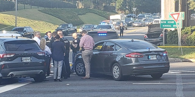 The suspect was taken into custody in Marietta on Tuesday following a standoff with police.