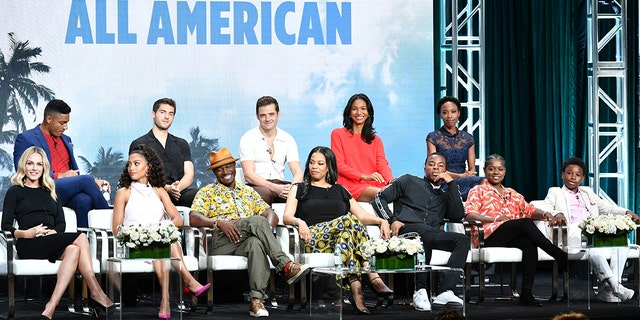 Michael Evans Behling, Cody Christian, Robbie Rogers, Greta Onieogou, Karimah Westbrook (bottom L-R) Monet Mazur, Samantha Logan, Taye Diggs, Nkechi Okoro Carroll, Daniel Ezra, Bre-Z, and Jalyn Hall attend 2019 Summer TCA Press Tour - Day 13 at The Beverly Hilton Hotel on August 04, 2019 in Beverly Hills, Calif. (Photo by Amy Sussman/Getty Images)