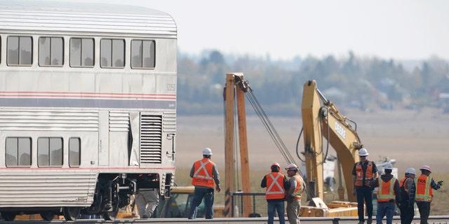 Federal investigators are seeking the cause of the derailment.